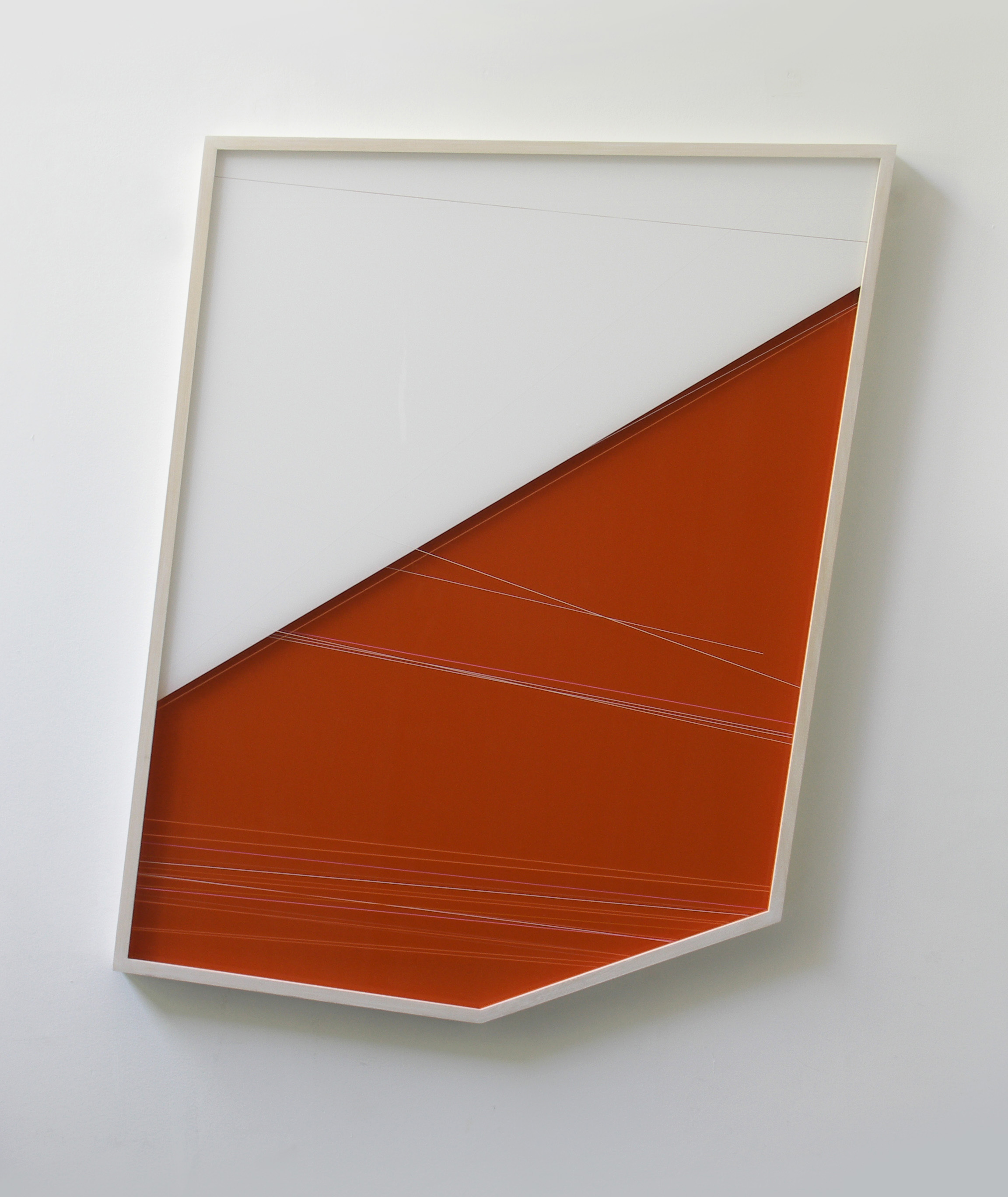 'Untitled', 2019, 96,5 X 85 X 4 Cm, Mixed Technique Under Plexiglass + On Aluminum