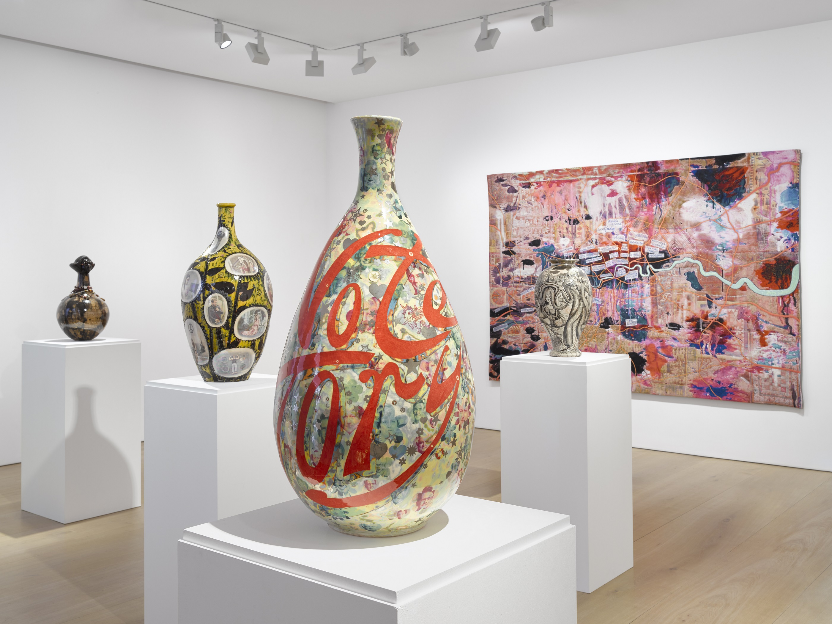 Grayson Perry Installation view, Super Rich Interior Decoration Victoria Miro Mayfair, 14 St George Street, London W1S 1FE 25 September – 20 December 2019 © Grayson Perry/ Courtesy the artist and Victoria Miro, London/Venice